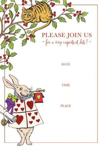Amazon Com Alice In Wonderland Party Invitations Party Invites Fill