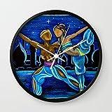 Society6 Arabian Dance Wall Clock Black Frame, White Hands