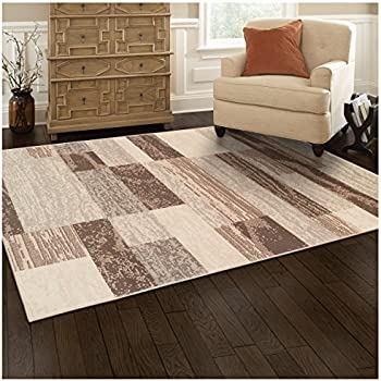 ... Rockwood Collection Area Rug, 8mm Pile Height With Jute Backing,  Textured Geometric Brick Design, Anti Static, Water Repellent Rugs   Slate,  4u0027 X 6u0027 Rug