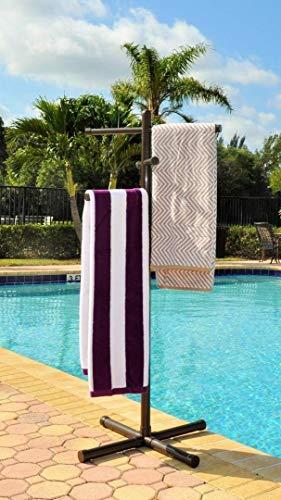 Jamlyn Pool & Spa Towel Rack Bronze Premium Extra Tall Towel Tree Outdoor PVC (Pool Towel Tree)
