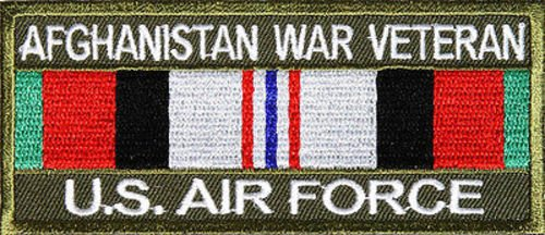 Afghanistan War Veteran Patch US Air Force Military VET POW Biker Patch PAT-2427