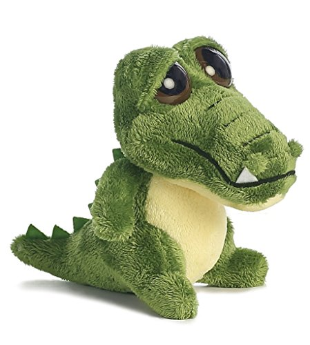 Aurora World Dreamy Eyes Plush Green Gator with Bubble Sound