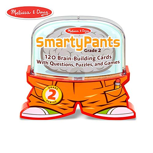 Melissa & Doug Smarty Pants 2nd Grade Card Set - 120 Educational Brain-Building Questions, Puzzles, and Games (Reading Games For 2nd Grade)