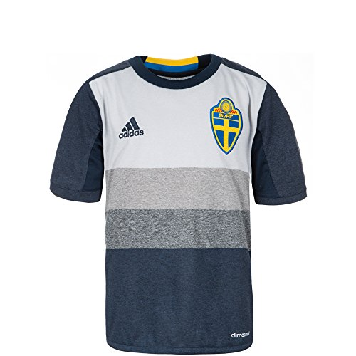 adidas Kinder Schweden Auswärtstrikot Replica, navy blau/grau, 128, AA0457