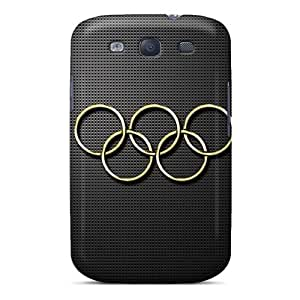 Premium Protection Gold Olympic Rings Case Cover For Galaxy S3- Retail Packaging
