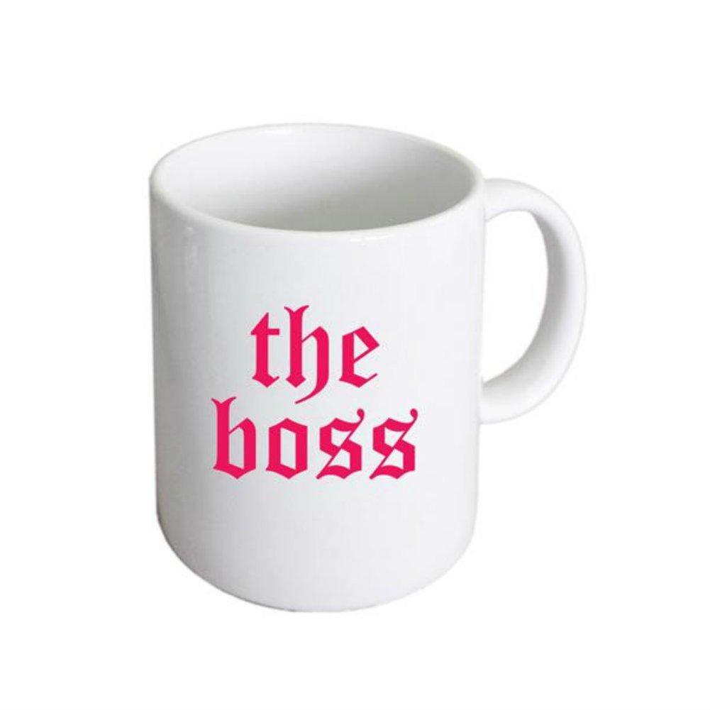 Gothic style script Womens Boss Ceramic Mug