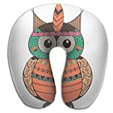 Lesi Yes U Shaped Neck Pillow Memory Foam Soft Owl India Indoor Outdoor Travel Airplane Car Office School
