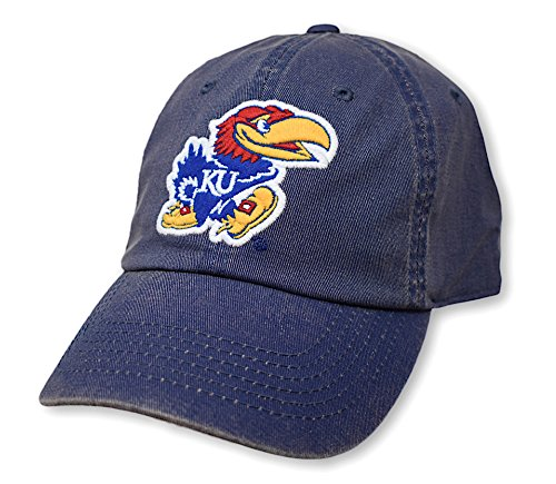 - Elite Fan Shop Kansas Jayhawks Icon Blue Hat - Adjustable