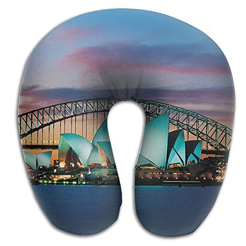 Laurel Neck Pillow Sydney Opera House Australia Travel U-Shaped Pillow Soft Memory Neck Support for Train Airplane Sleeping]()