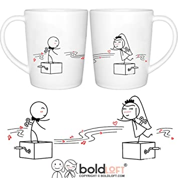 Amazon.com: BOLDLOFT Endless Love Couple Coffee Mugs- Wedding Gifts ...