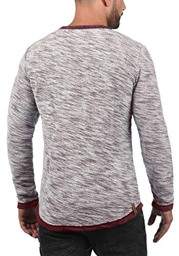 0985 Solid 100 cotone rosso Hoodie Girocollo Hoodie uomo da Pullover Flocks vino 6q6OP