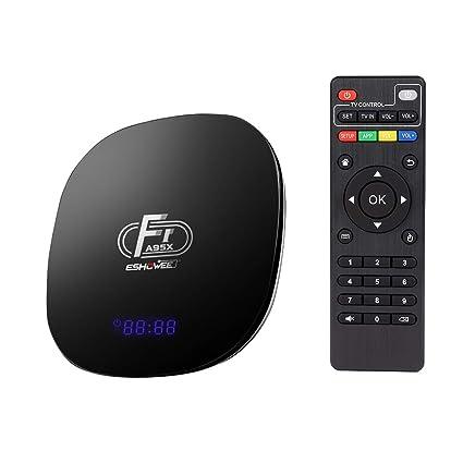 ESHOWEE Android 8 1 TV Box F1 Amlogic S905W Quad-core 64 Bit DDR3 2GB 16GB  4K UHD WiFi and LAN VP9 DLNA H 265