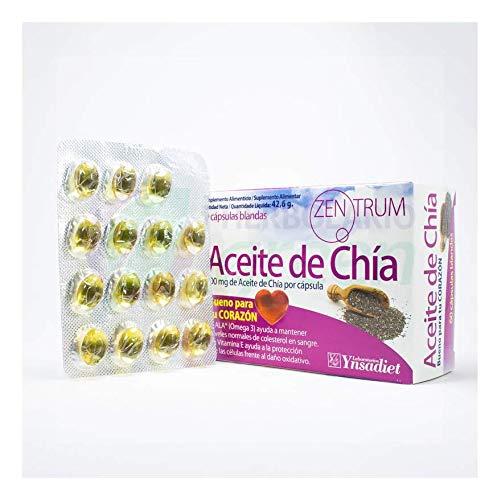 YNSADIET Aceite de Chia 120 perlas 2 cajas de 60 rico en ...