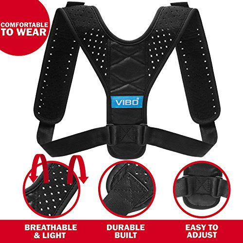 Posture Corrector for Men and Women - Comfortable Upper Back Brace Clavicle Support Device for Thoracic Kyphosis and Shoulder - Neck Pain Relief - FDA APPROVED - by VIBO Care (Image #3)