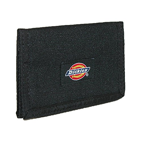 (Dickies Mens Chains Leather Wallet - Security Trifold ID Window with Pockets for Credit Cards)