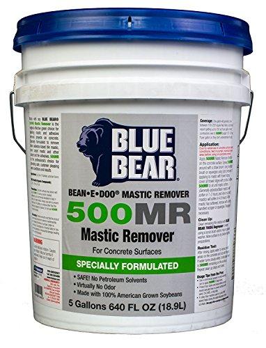 BLUE BEAR 500MR Mastic Remover For Concrete 5 Gallon