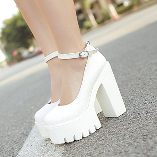 mejor selección 63744 1ed7e Minetom Mujer Moda Zapatos de Tacón Correa Tobillo Tacones ...