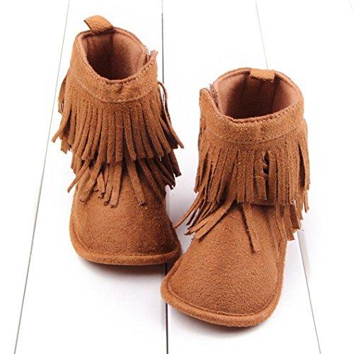 Saingace® Krabbelschuhe boots,Kleinkind -Säuglings Neugeborenes Baby Schuhe weiche Sohle Stiefel Prewalker Quaste