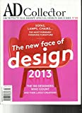 AD ARCHITECTURAL DIGEST MAGAZINE, SPECIAL DESIGN ISSUE, 2013 NO.09 ( FRENCH