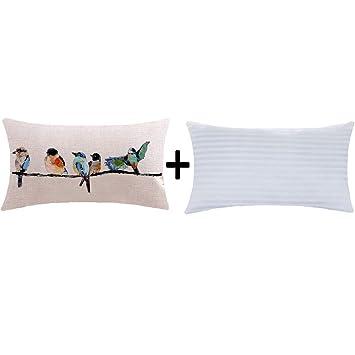 Amazon.com: ITFRO - Funda de cojín de lino y algodón ...