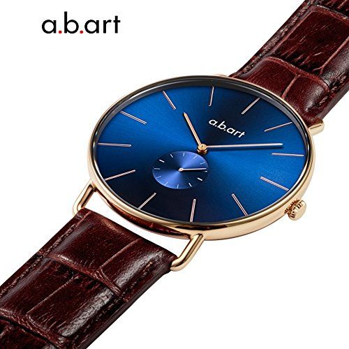 a.b .art FR36-013-4L Women Crack Oily Calf Leather Strap Blue Dial Gold Watch Wrist Watches by a.b.art (Image #3)
