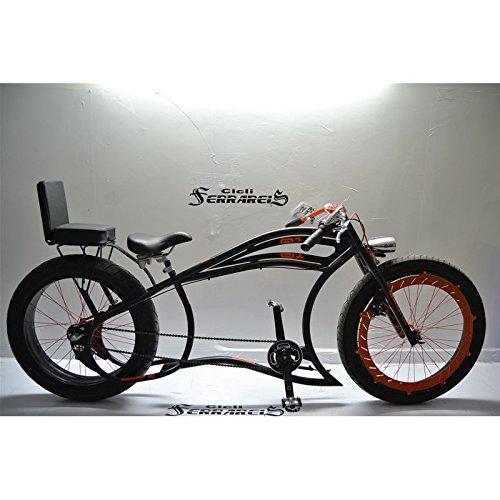 Fahrrad Cruiser Custom Italien Tandem Custom Schwarz Orange