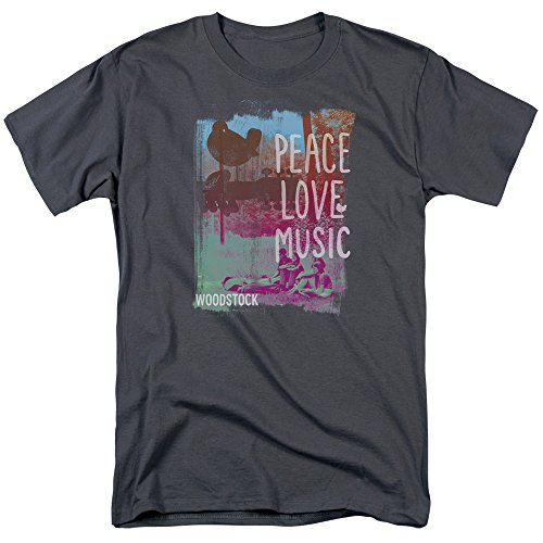 Trevco - Peace Love Music - Adult T-Shirt - 2XL  (T-shirt Love Size And Plus Peace)