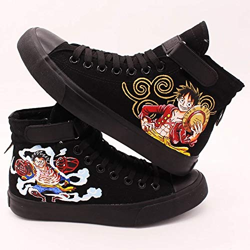 ef9e0bb36a Anime Shoes One Piece Shoes Custom Sneakers Hand Painted Shoes Custom Men  Women Shoes High Top Shoes Sneakers Chuck Men Women Fashion Shoes Free ...