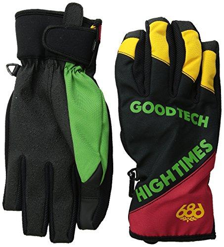 Mens Pipe Glove - 686 Men's Icon Pipe Glove, Rasta Colorblock, Medium