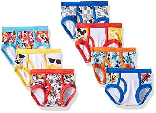 Disney Cotton Briefs - Disney Boys' Toddler 7-Pack, Pink Mickey, 18M