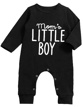 fadee5786 Amazon.com  Mailza Newborn Baby Boys Clothes Long Sleeve Romper ...