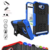 Huawei Y3 II Case,Mama Mouth Shockproof Heavy Duty Combo Hybrid Rugged Dual Layer Grip Cover with Kickstand For Huawei Y3II / Huawei Y3 2 Smartphone (With 4 in 1 Free Gift Packaged),Blue
