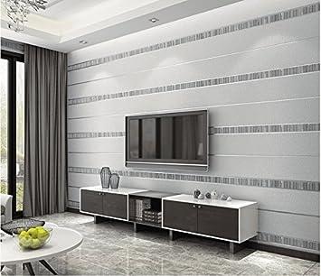 Meaosy 3D horizontale Streifen Non-Woven Tapete Wohnzimmer ...