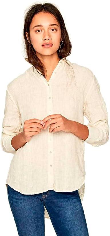 Pepe Jeans Camisa Bella Beige Medium Beige: Amazon.es: Ropa