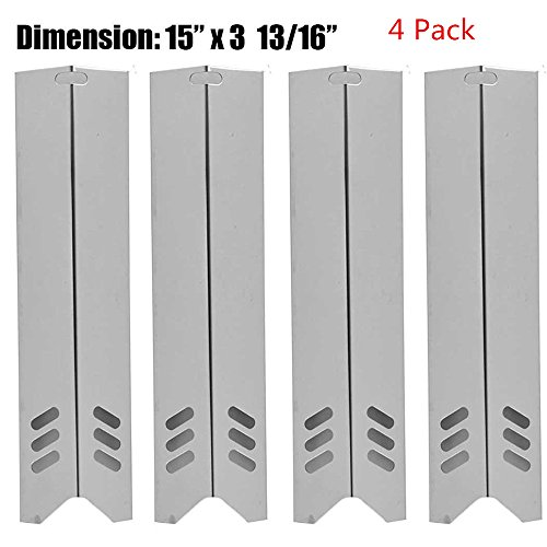 UPC 709327564515, Zljiont Replacement Stainless Steel Heat Plate (4 Pack) for Select Uniflame Backyard Gas Grill Models (4)