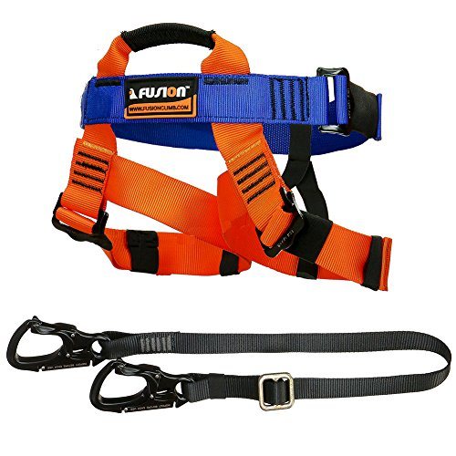 Fusion Climb Tactical Edition Kids Commercial Zip Line Kit Harness/Lanyard Bundle FTK-K-HL-01 by Fusion Climb