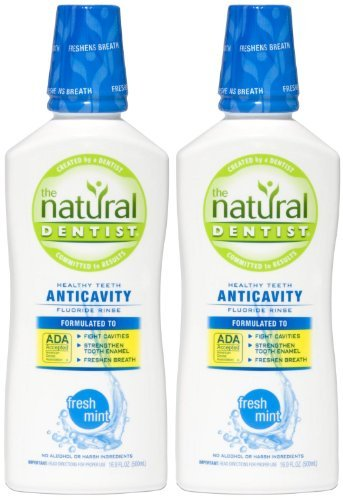 The Natural Dentist Anticavity Fluoride Rinse, Fresh Mint - 16.9 oz - 2 ()