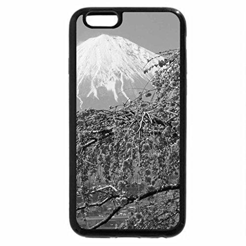 iPhone 6S Case, iPhone 6 Case (Black & White) - Mt. Fuji Japan