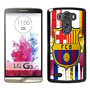 Popular Custom Designed Cover Case For LG G3 With Barcelona Black Phone Case 5