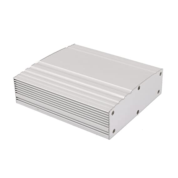 Amazon.com: eDealMax 158 x 138 x 44 mm Polivalente de aluminio extruido carcasa de la caja de Plata del tono: Electronics