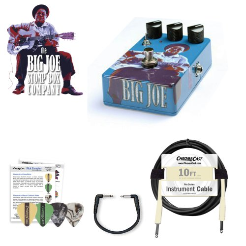 Big Joe Stomp Box B-404 Vintage Tube 2 Kit - Includes: Planet Waves Patch Cable, 10ft Cable & Pick Sampler!