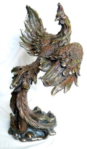 Mythical Rising Phoenix Bird Statue Figurine