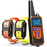 #10: Dog Training Collar, Veckle Dog Shock Collar 2600ft Waterproof Dog Electronic Collar Remote Training with LED Beep Vibration Shock Collar for Large and Medium Dogs Training for 2 Dogs with Remote
