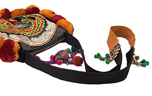 100% Handmade Handbag Purse Borsa a Tracolla Bag - Belle Oriental Ricamo Art # 167