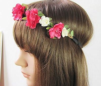 Floral Fall Cute Stretch Flower Crown Party Headband Wedding Hair Wreath F-003