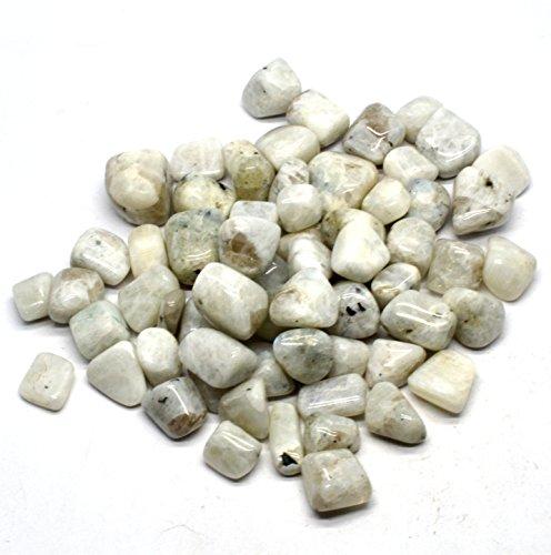 Healing Crystals India Meditation Reiki Precious Rainbow Moonstone Gemstone Tumble, 1/2 -