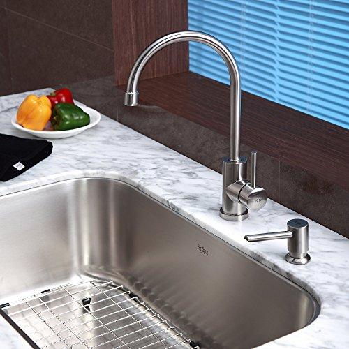 Black Kitchen Sink Malaysia: Kraus KBU14-KPF2160-SD20 31 1/2 Undermount Single Bowl