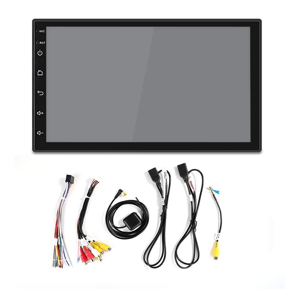 MiCarBa Autoradio Double Din 7 Pouces CL7200C Autoradio Android 1024 * 600 HD St/ér/éo int/égr/é RDS avec Fonction GPS dinterconnexion de t/él/éphones Portables avec syst/ème Android 8.0 /…