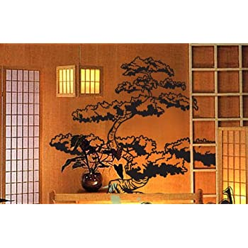 Amazoncom Vinyl Wall Art Decal Sticker Asian Japanese Bonsai - Vinyl wall decals asian