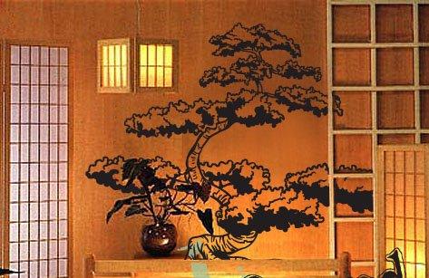 amazon vinyl wall art decal sticker asian japanese bonsai tree